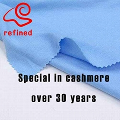 80% cashmere 20% sheep wool fabric RN368 for 450g/m