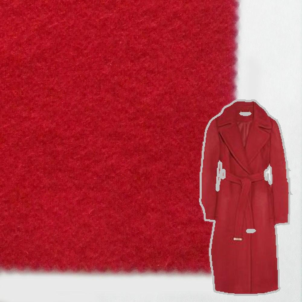 Woollen wool cashmere pure wool fabric red fabric 450g/m,RN258 2