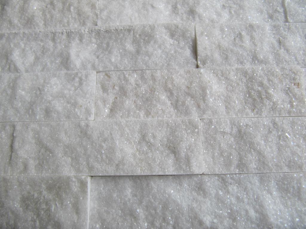 White Natural Stone : Natural white quartz stone mosaic bas dm dingshang
