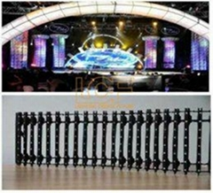 PH33mm Video LED Curtain Screen Display with Synchronously Control, auto/manual