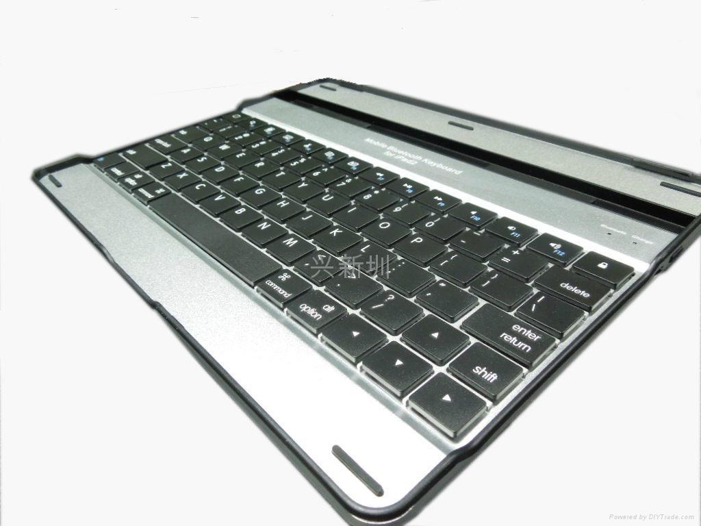 铝合金外壳黑白款蓝牙键盘 2