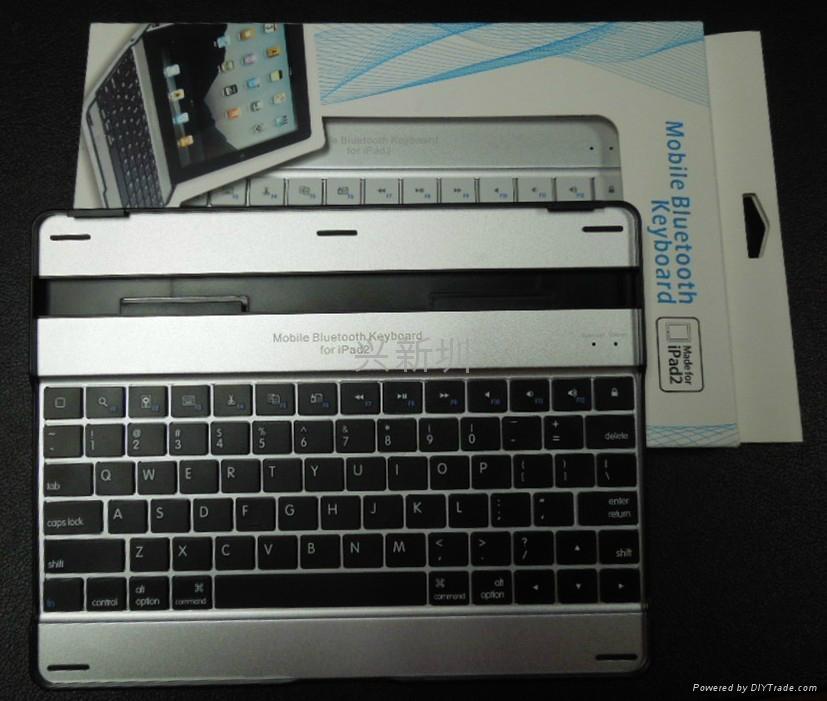 铝合金外壳黑白款蓝牙键盘 3