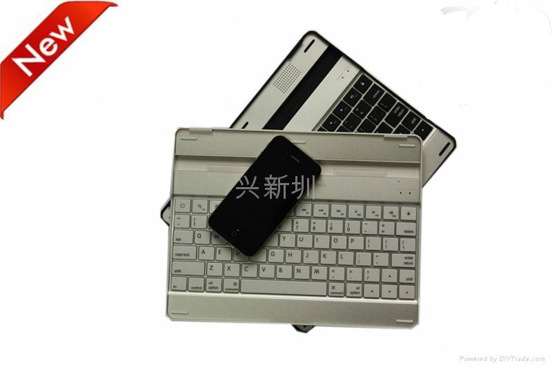 铝合金外壳黑白款蓝牙键盘 5
