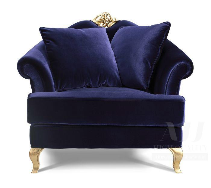 Neoclassic Style High Grade Velvet Chesterfield Sofa