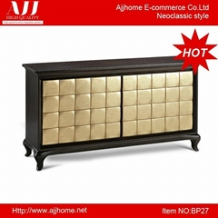 hot selling black antique wooden sideboard