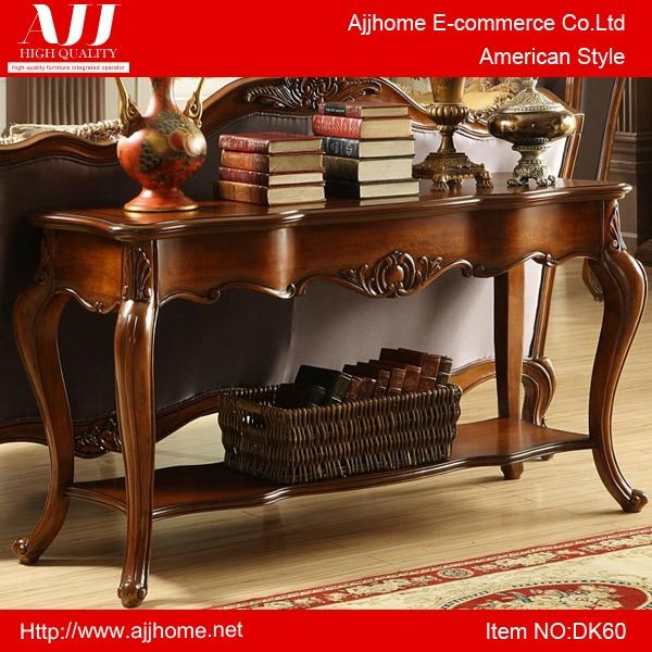 classic American wooden console table 1