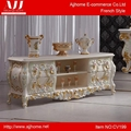 French style noble white TV stand