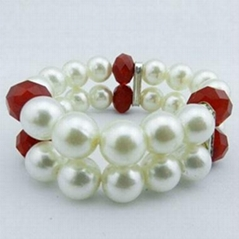 Fashion Pearl Crystal Glass Beaded Bracelet Set
