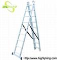 Aluminium folding Triple extension ladder(HE-309)