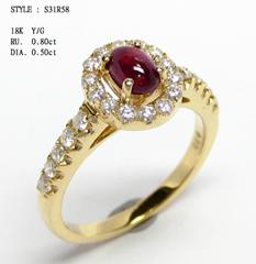 18K 钻石戒指