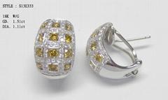18K 钻石耳环
