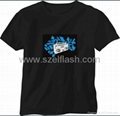 flashing music t-shirt