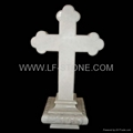 cross design tombstone for grave