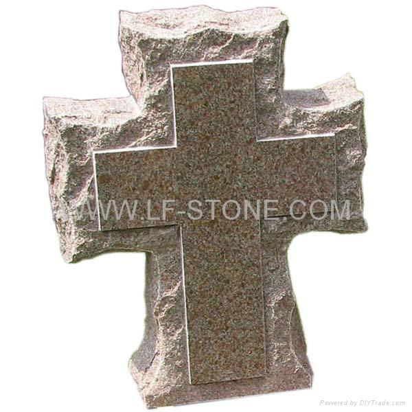 Cross Design Tombstone For Grave Longfu 1 Longfu