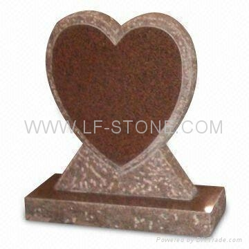 heart shape granite headstone/monument/gravestone/tombstone 3