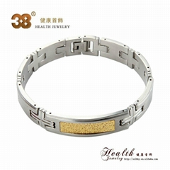 sliver 316L stainless steel magnetics bracelet