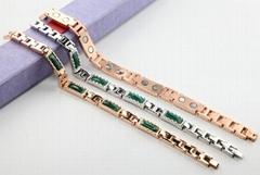 Green gens stone stainless steel bracelet jewelry