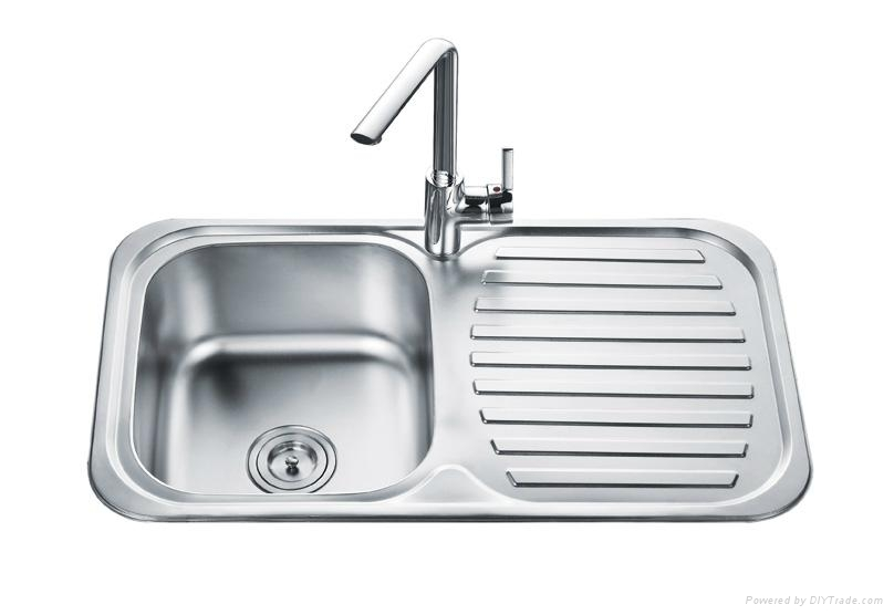 Single bowl with drainer bowl kitchen sink - OD-8248A - OUERT ...