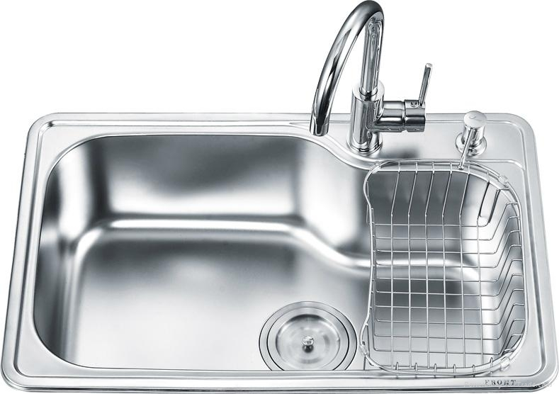 single stainless steel kitchen sink stainless steel single bowl kitchen sink oa 7246 ouert 7965