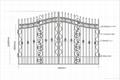 good design upscale wrought iron gate 2