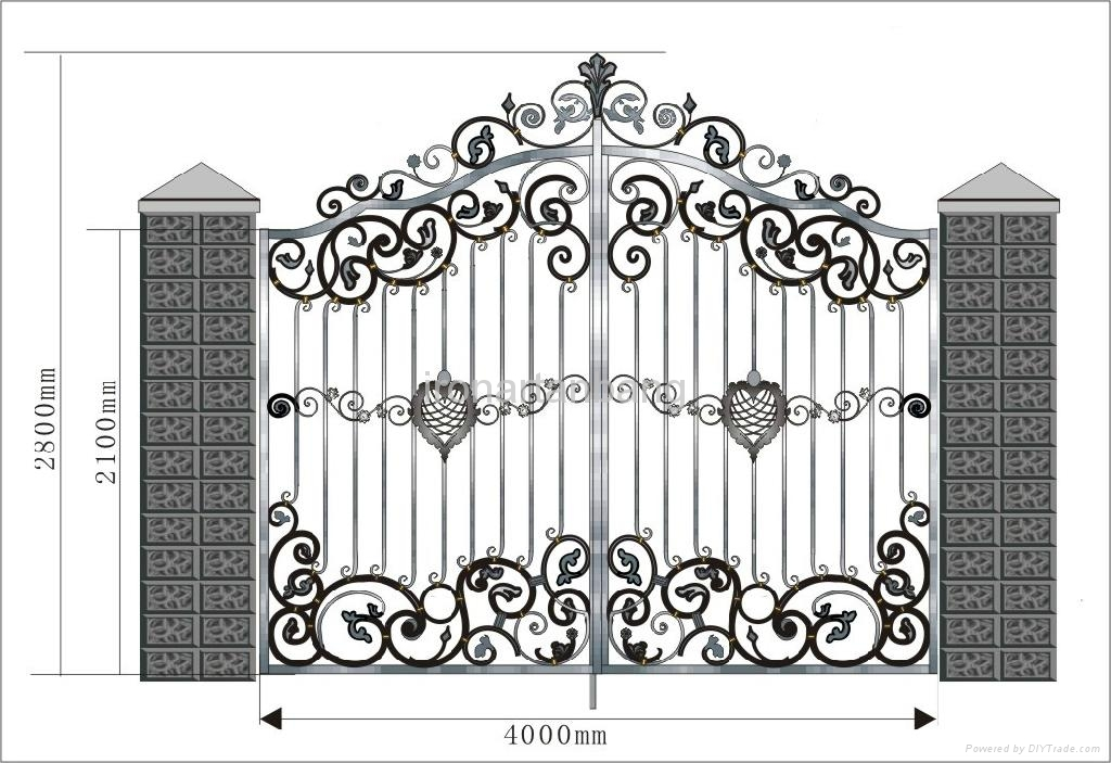 Good Design Upscale Wrought Iron Gate G 0002