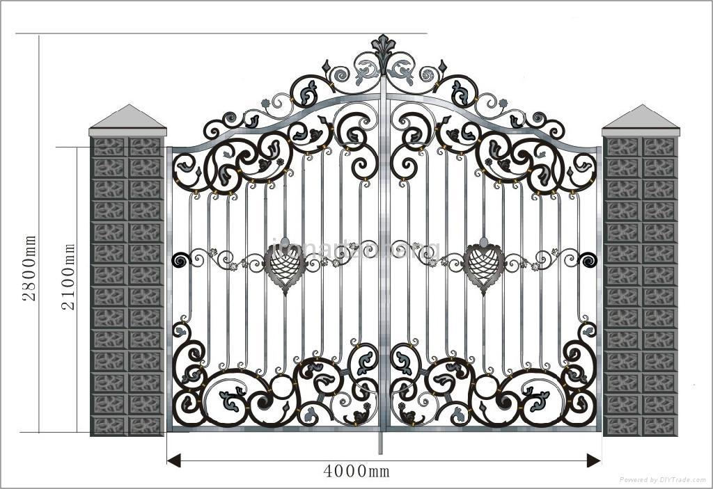 good design upscale wrought iron gate - g-0002 - Shijiazhuang Anbang ...