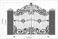 good design upscale wrought iron gate 3