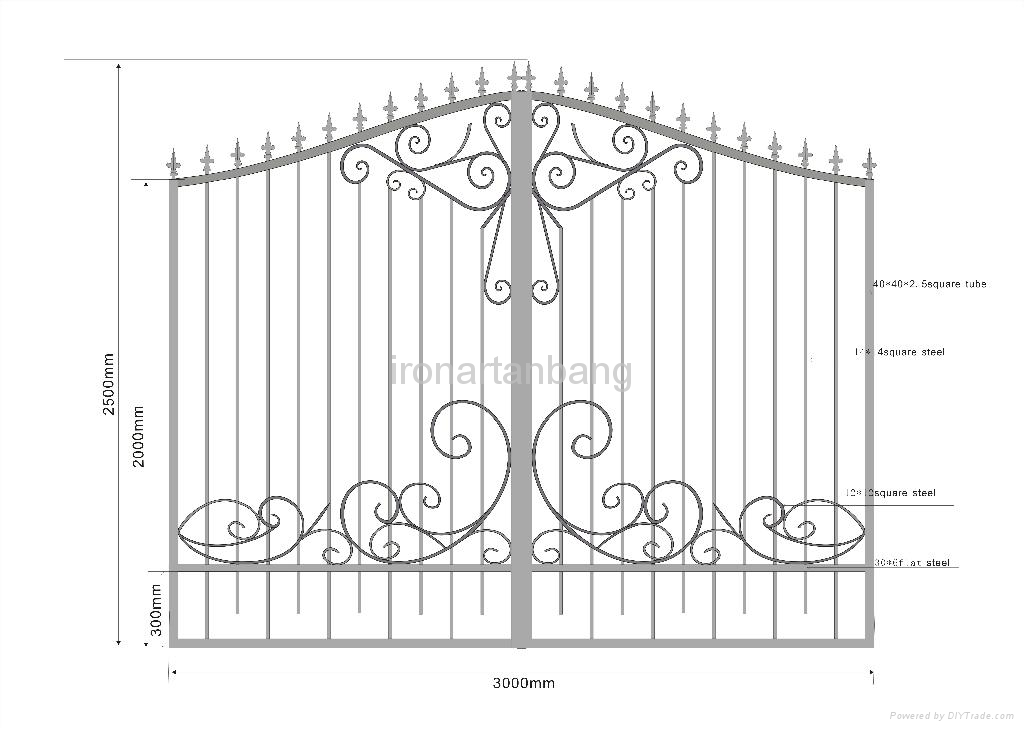 good design upscale wrought iron gate 4