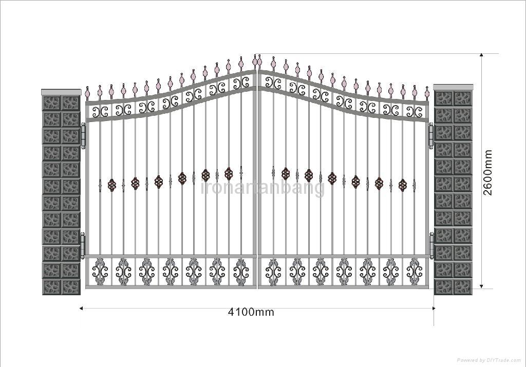 good design upscale wrought iron gate 5