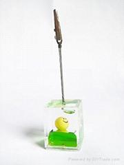 acrylic transprent ice cube memo stand