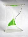 transparent sand timer