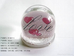 inser paper beautiful snow globe