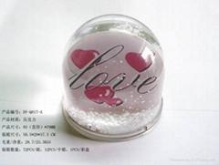 inser paper beautiful snow globe