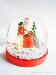 transparent snow man for snow globe