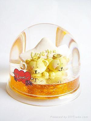 transparent snow man for snow globe 4
