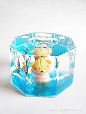 transparent snow man for snow globe 5