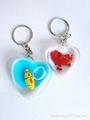 beautiful heart shape keychain