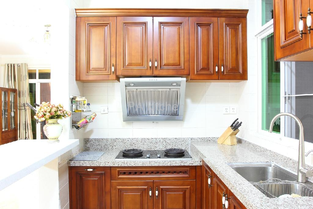 Solid wood kitchen cabinet no 2 pa china manufacturer for Solid wood cabinets company reviews