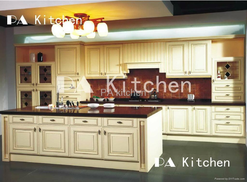 Solid wood kitchen cabinet 1 pa china manufacturer for Solid wood kitchen cabinets