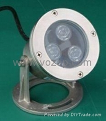 3*1W IP68 LED underwater light