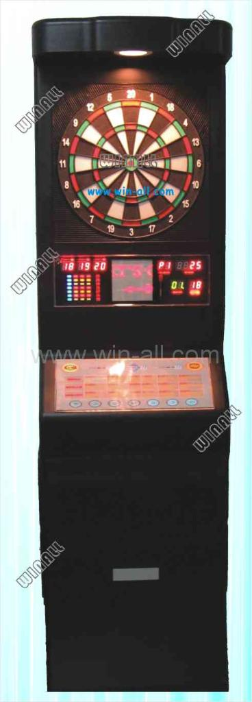 Floor electronic dart machine