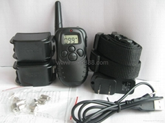 Rechargeable and Waterproof 100Level training dog collar-2dos