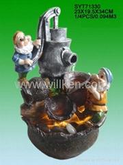 Polyrsesin Gnomes Water Fountain