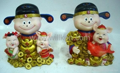 Polyresin Coin Bank(Piggy bank for new year & valentine gifts)