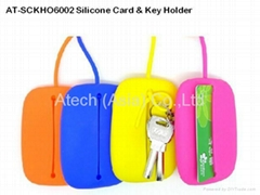 AT-SCKHO6002  Silicone Card & Key Holder