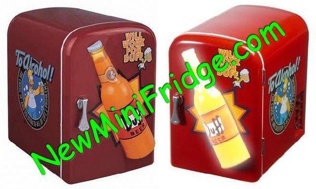 Mini Cooler Simpsons Duff Beer Fridge 4 Liters Ac Dc