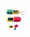 capsule shaped pill box with timer