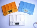 travel pill case, electronic pill case, electronic pill box
