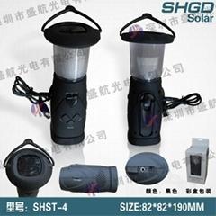 solar dynamo camping light/lamp/lantern with radio
