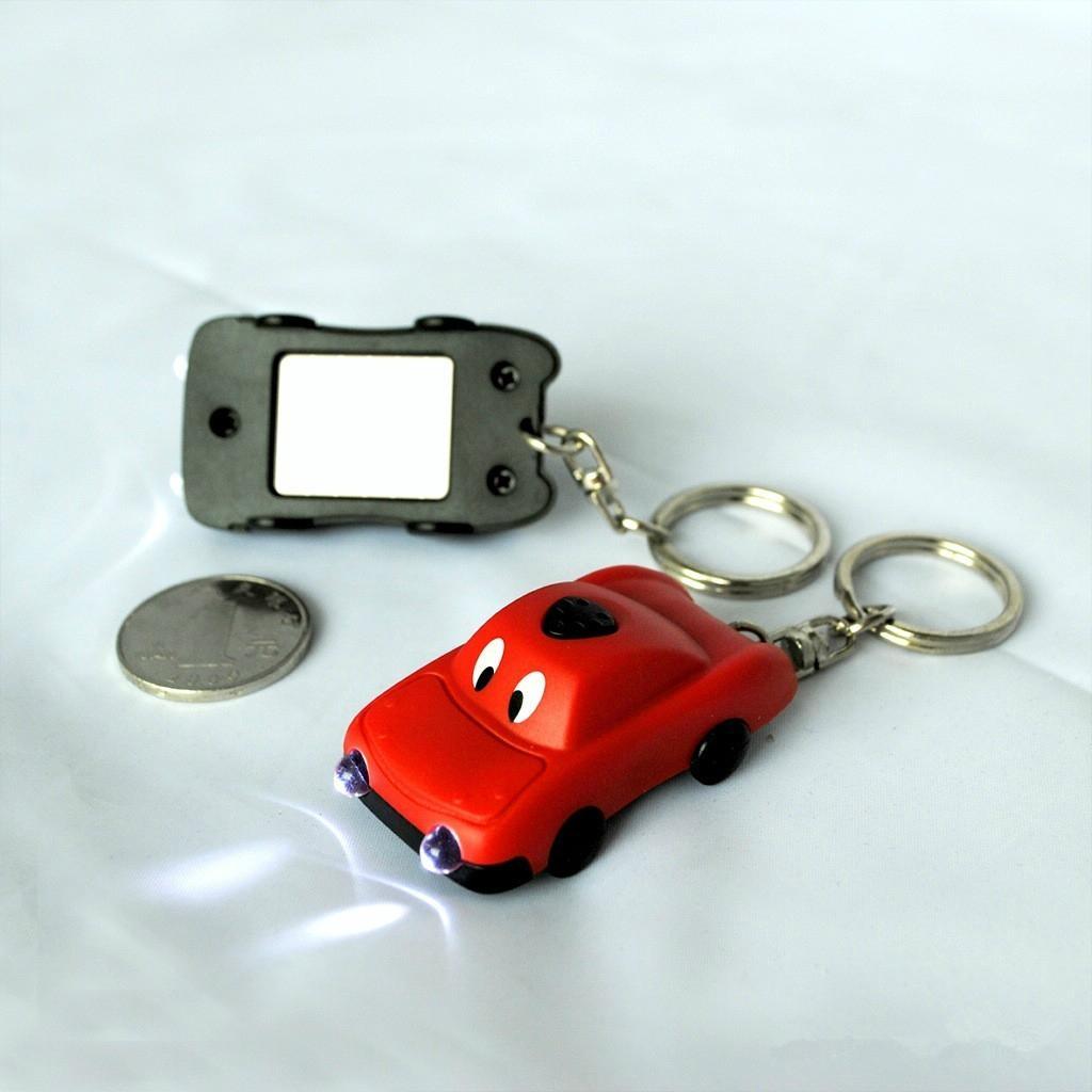 factory & manufacturer car shape solar flashlight keychain 1